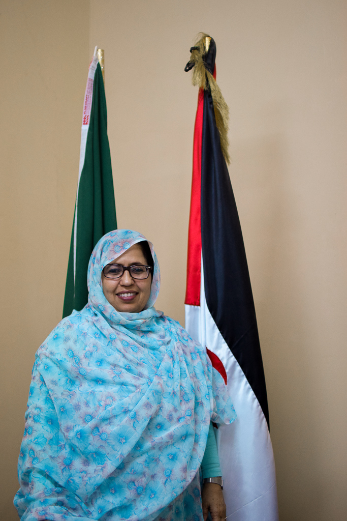 La ministra de salud saharaui, Jira Boulahi, del Frente Polisario